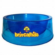 Comedouro Glitter Cristal Azul 300 ml
