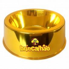Comedouro Metalizado Dourado 300ml