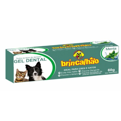 Gel Dental Brincalhão para Cães e Gatos Sabor Menta - 60g
