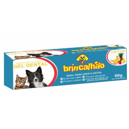 Gel Dental Brincalhão para Cães e Gatos Sabor Tutti-Frutti - 60g