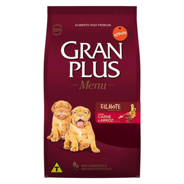 GRANPLUS Cão Filhote Sabor Carne & Arroz 15 kg