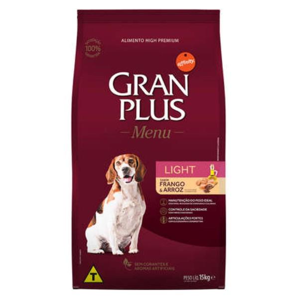 GranPlus Light para Cães Adultos Sabor Frango e Arroz 15 kg