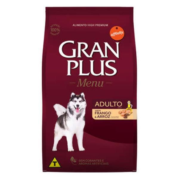 Ração GranPlus para Cães Adultos Porte Médio e Grande Sabor Frango e Arroz 15 kg