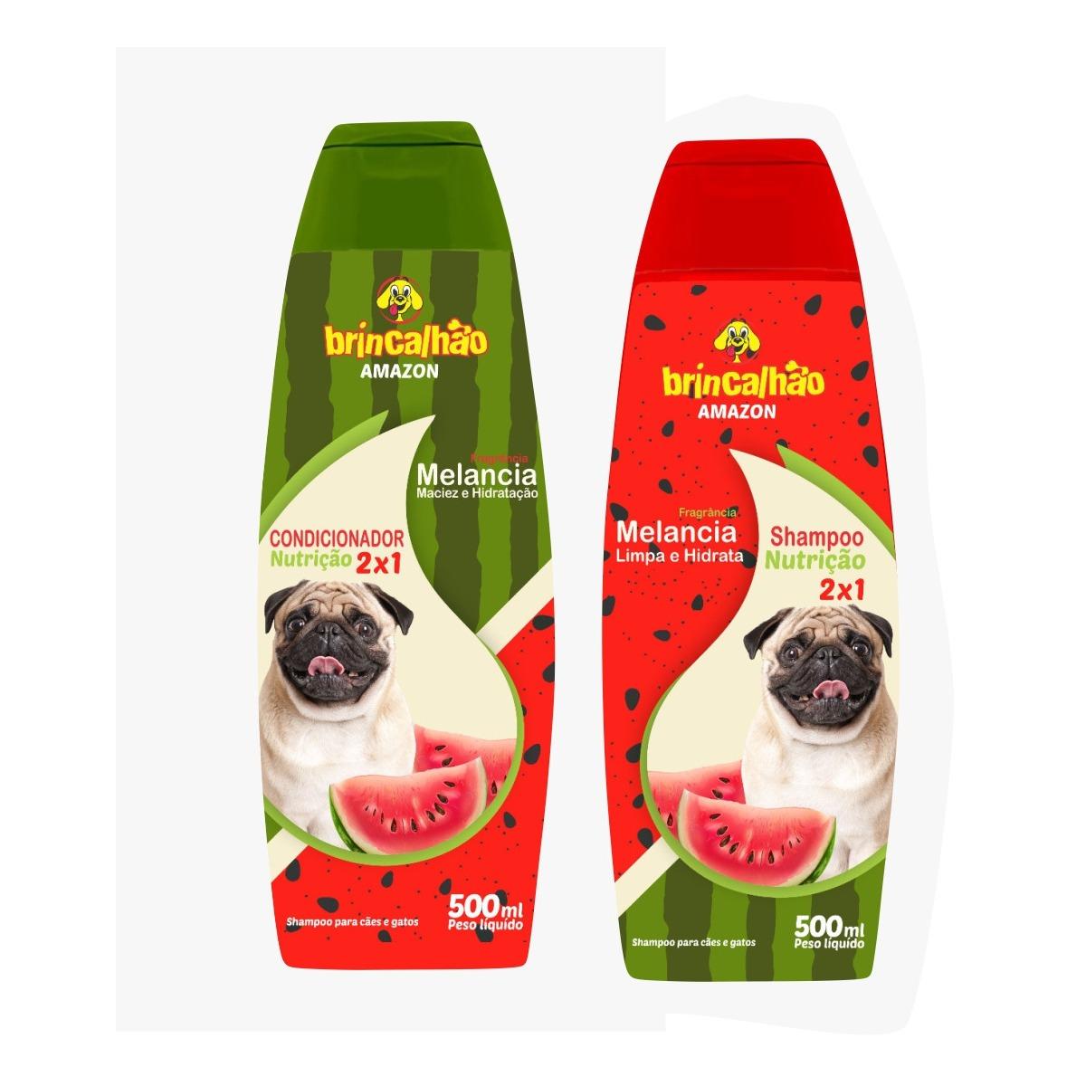 Kit Shampoo e Condicionador Melancia Brincalhão - 500ml