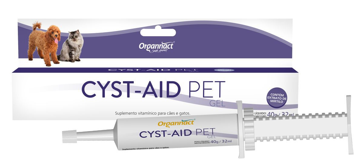 Organnact Cyst-Aid Pet cães e gatos - 40g