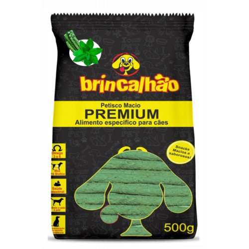 Petisco Macio Premium Dental Flexível - Menta 500g