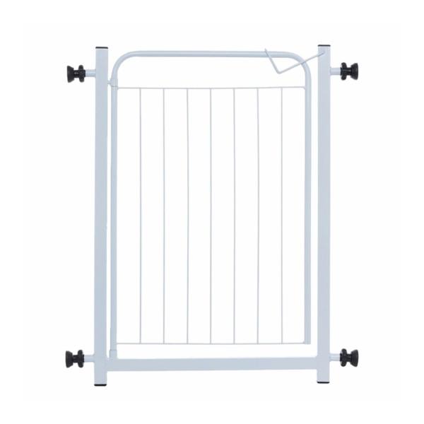 Portão para Cachorro Branco - 70cm + 10cm extensor