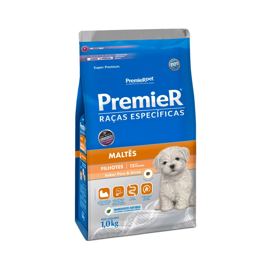 PremieR Raças Específicas  Maltês Cães Filhotes - 1 kg