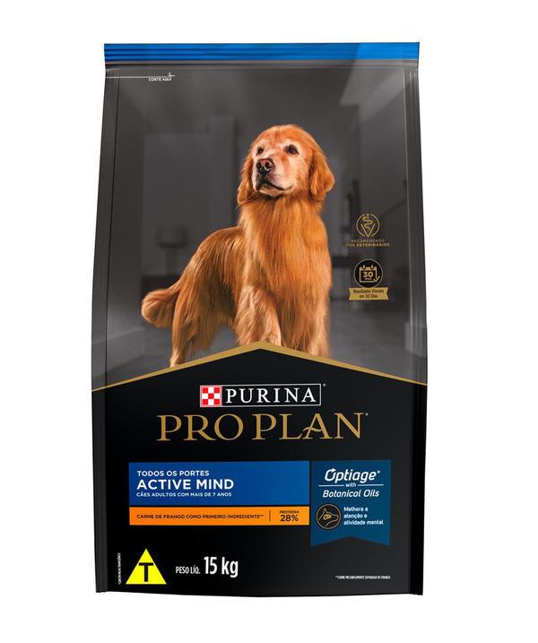 Ração Purina ProPlan Cães Adultos 7+ Active Mind Todos os Portes Frango 2,5kg