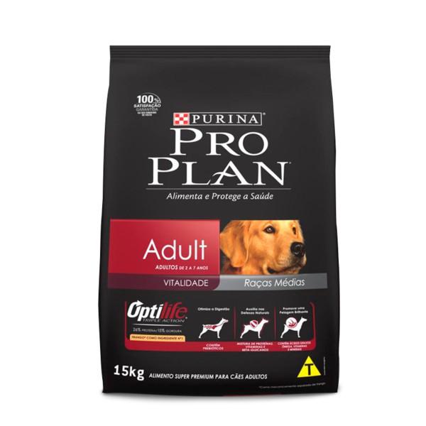 ProPlan para Cães Adultos raças médias Sabor Frango e Arroz 15 kg