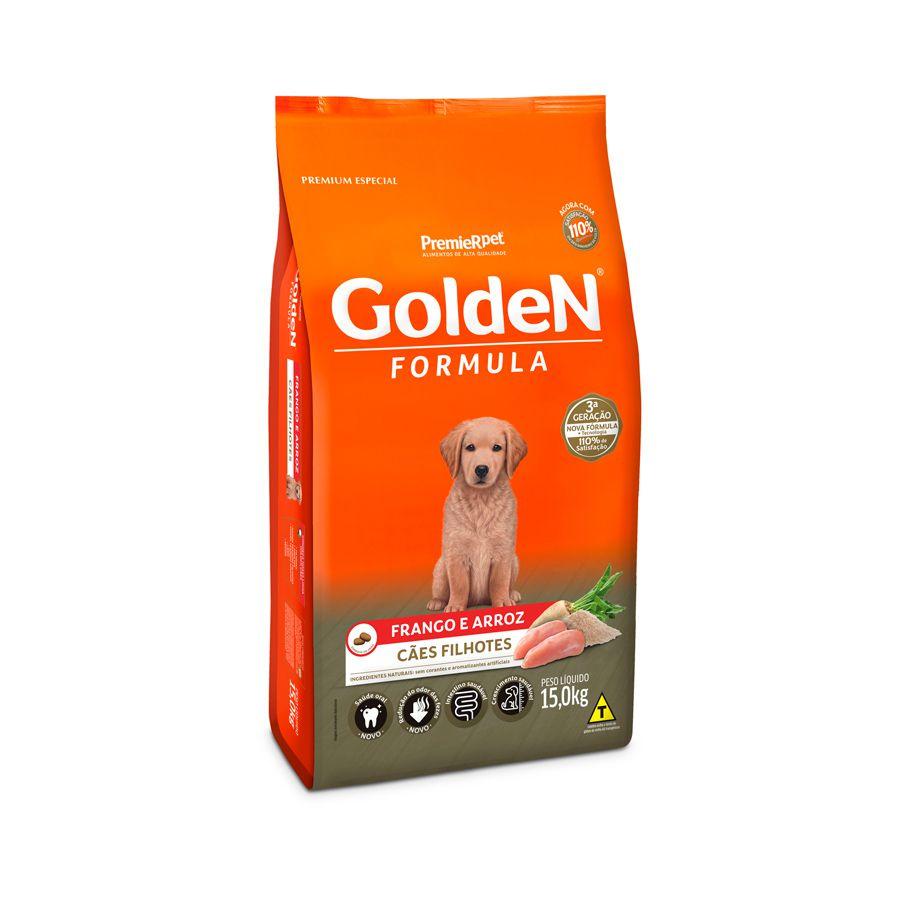 Ração Golden Filhote Sabor Frango e Arroz para Cães 15 kg