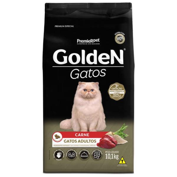 Ração Golden para Gatos Adultos Sabor Carne 1 kg