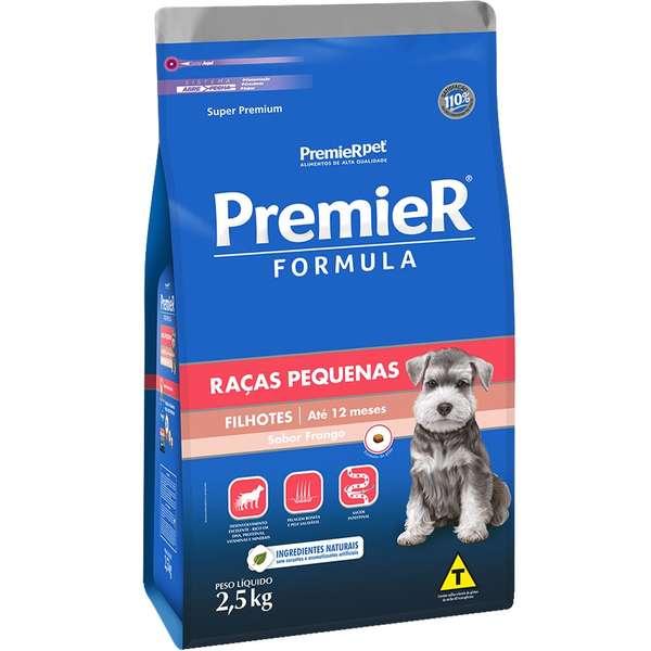 Ração Premier Fórmula para Cães Filhotes de Raças Pequenas Sabor Frango - 2,5 kg