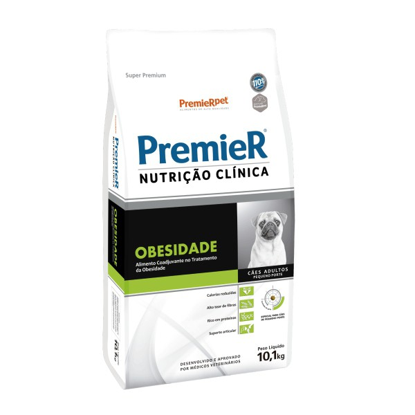Ração Premier Nutrição Clínica Obesidade para Cães Adultos Raças Pequenas 10,1 kg