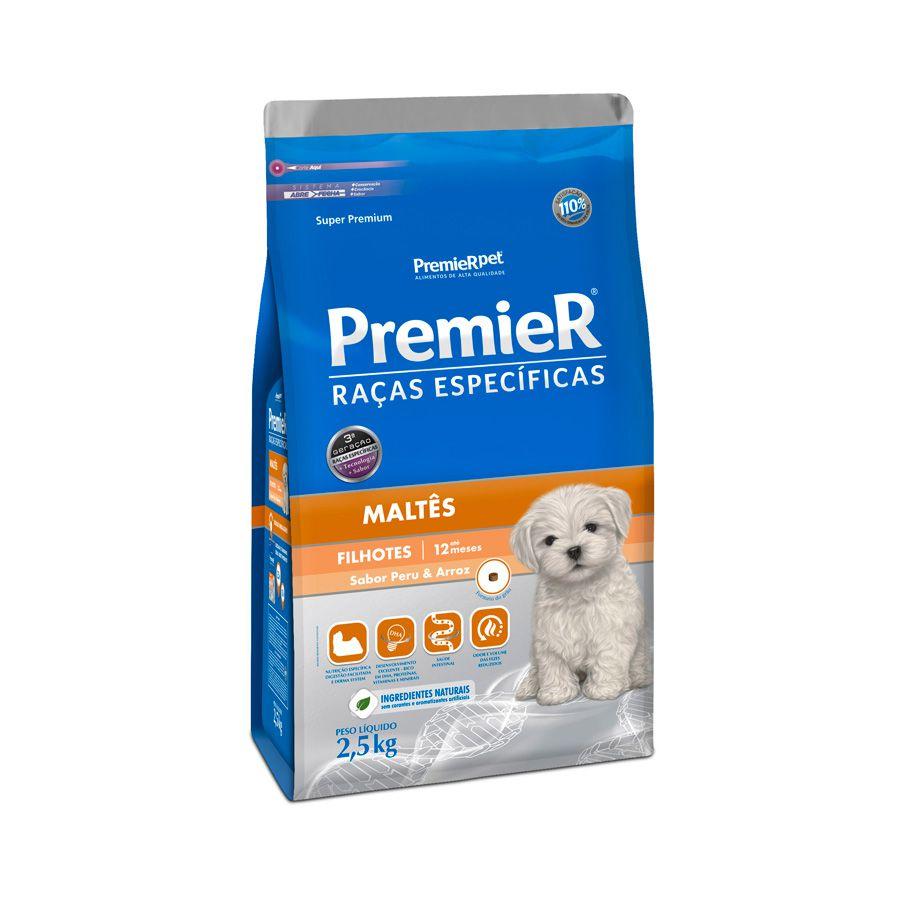 Ração Premier Raças Específicas Maltês para Cães Filhotes 2,5 kg