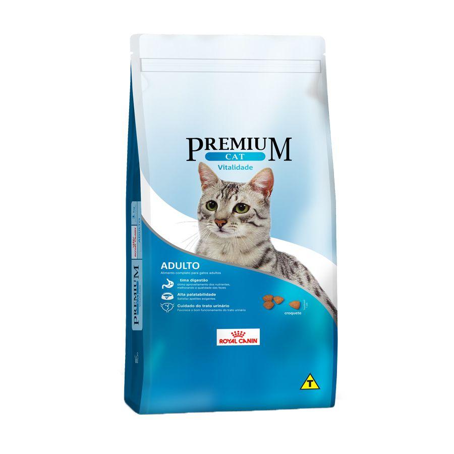 Ração Royal Canin Premium Cat Vitalidade para Gatos Adultos 1kg