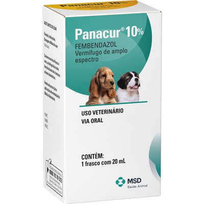 Vermífugo MSD Panacur 10% Suspensão Oral - 20 mL