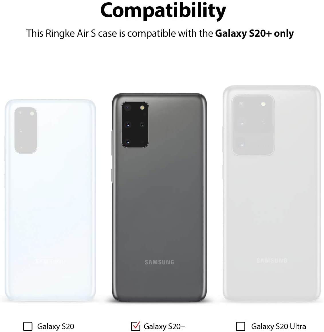 Capa Ringke Air S - Samsung Galaxy S20 Plus (Tela 6.7)