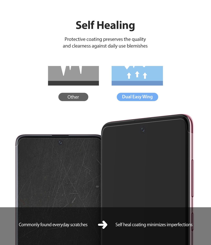 Película Ringke Dual Easy Wing Full - Samsung Galaxy A71 - Pack c/ 2 unidades