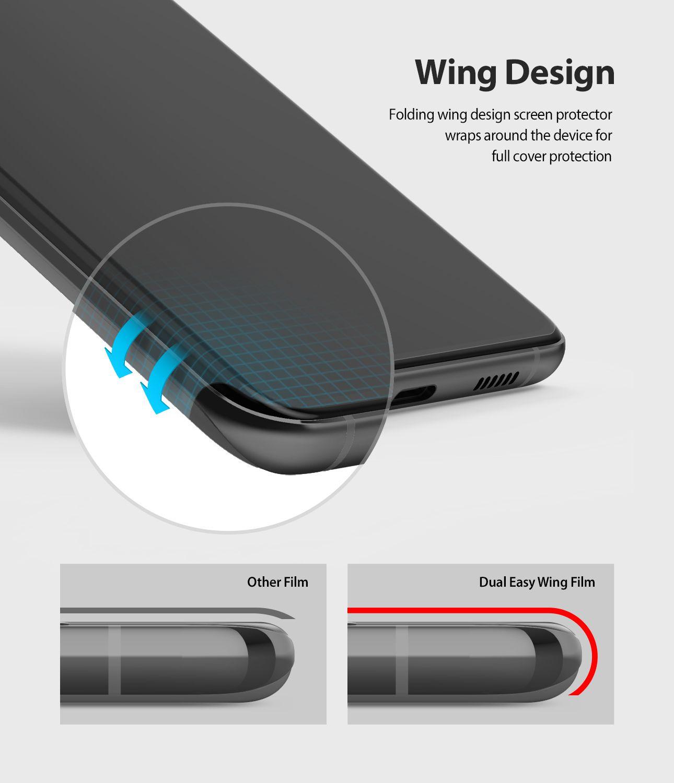 Película Ringke Dual Easy Wing Full - Samsung Galaxy S20 Plus (Tela 6.7) - Pack c/ 2 unidades