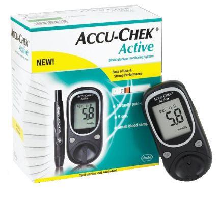 APARELHO DE GLICEMIA ACCU CHECK ACTIVE (KIT)  - ROCHE
