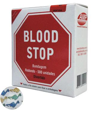 BANDAGEM BLOOD STOP DIVERTIDOS KIDS  500 BEGE ( CX C/ 500 UNDS.) - AMP