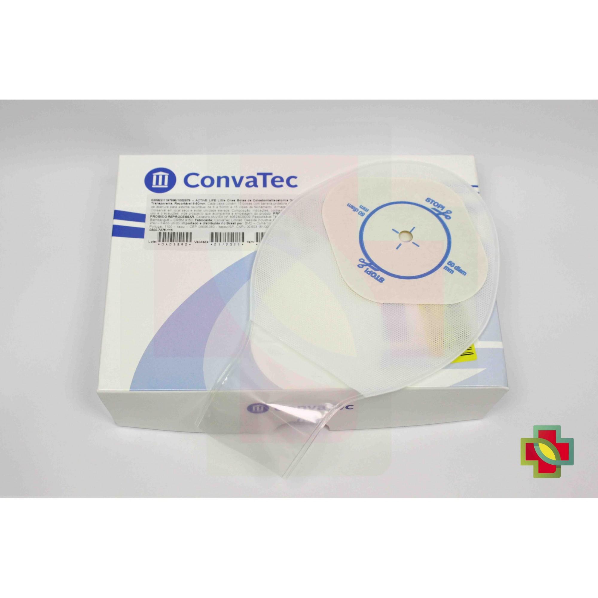 BOLSA DE COLOSTOMIA ACTIVE LIFE INFANTIL TRANSP 8-50 MM (C/15 UND.) 20922 - CONVATEC