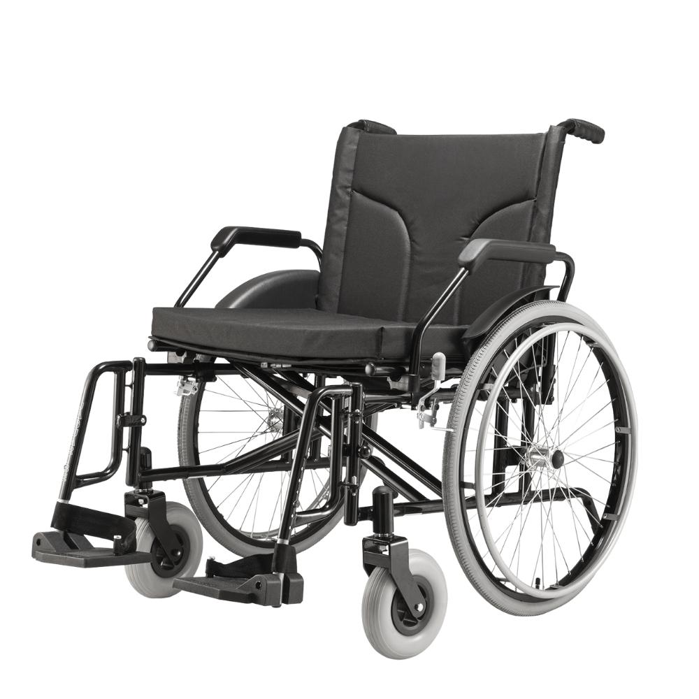 Cadeira de Rodas Aço Big 60cm 160kg - Jaguaribe
