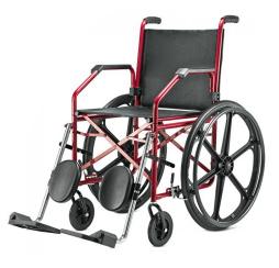 Cadeira de Rodas Aço Courvim Vinho 45 cm 1012 - BAXMANN