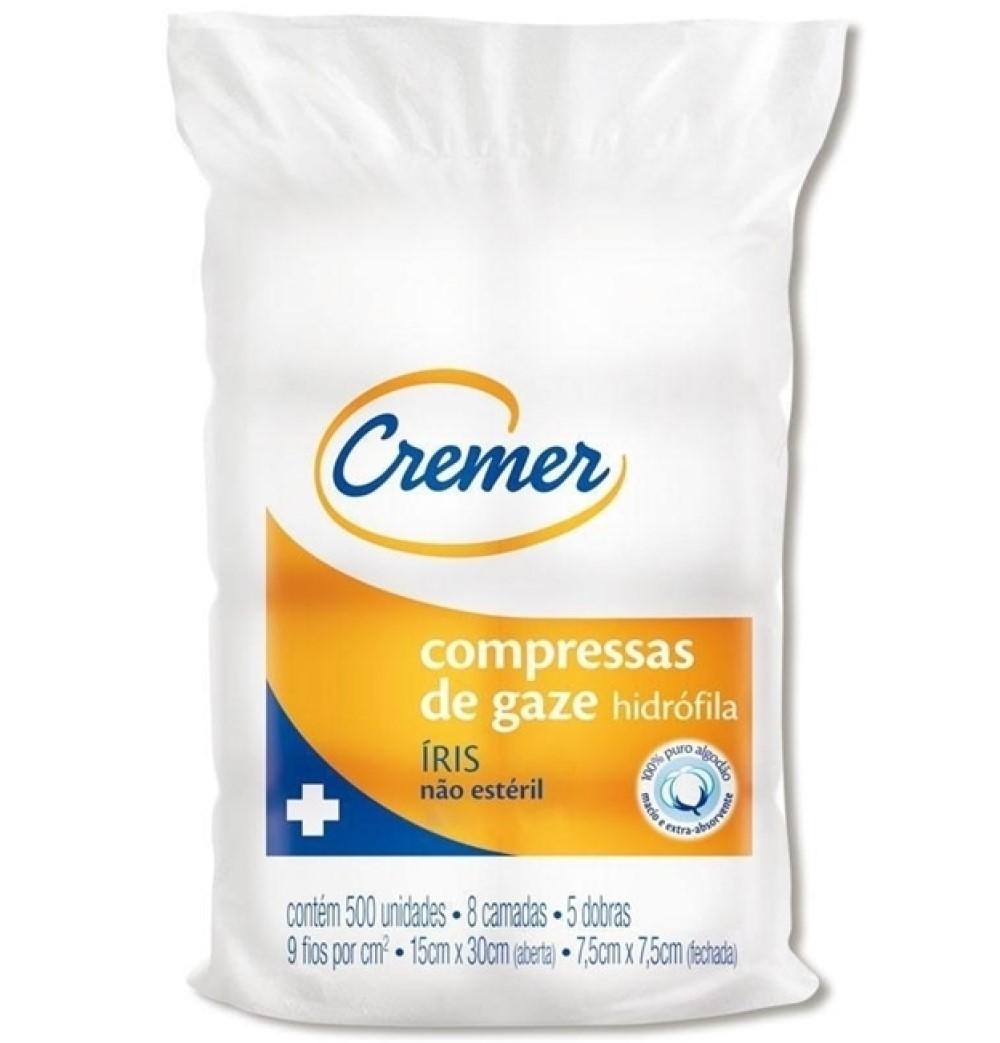 COMPRESSA DE GAZE 7,5X7,5 (C/500) 09F IRIS - CREMER