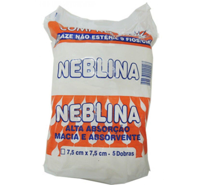 COMPRESSA DE GAZE 9 FIOS 7,5CM X 7,5CM (PCT C/500) - NEBLINA