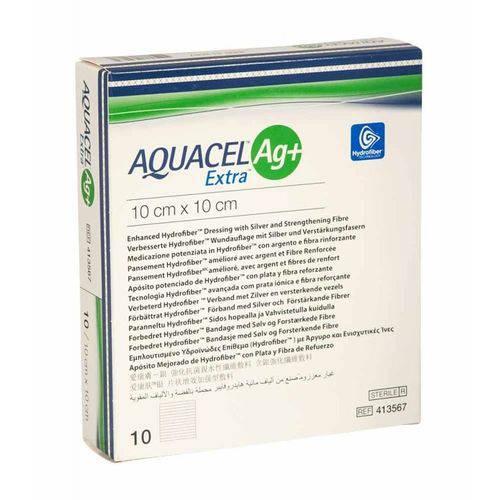 Curativo Aquacel Ag+ Extra 10 x 10 cm Und 413567 - Convatec
