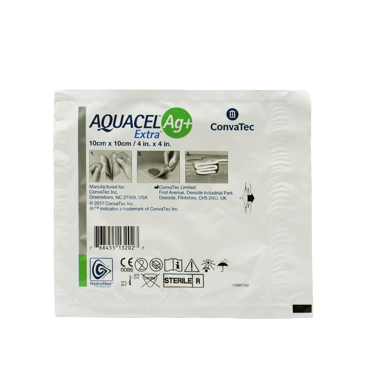 CURATIVO AQUACEL AG+ EXTRA 10 X 10 CM (UND) 413567 - CONVATEC