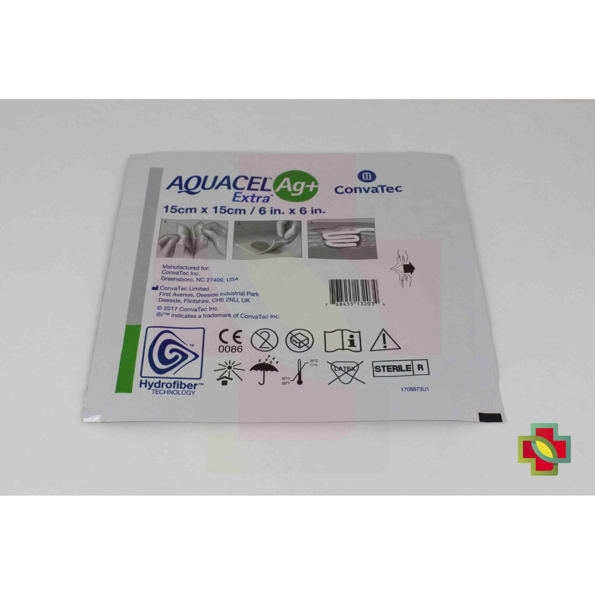 CURATIVO AQUACEL AG+ EXTRA 15 X 15 CM (CX C/ 10 UNDS.) - CONVATEC