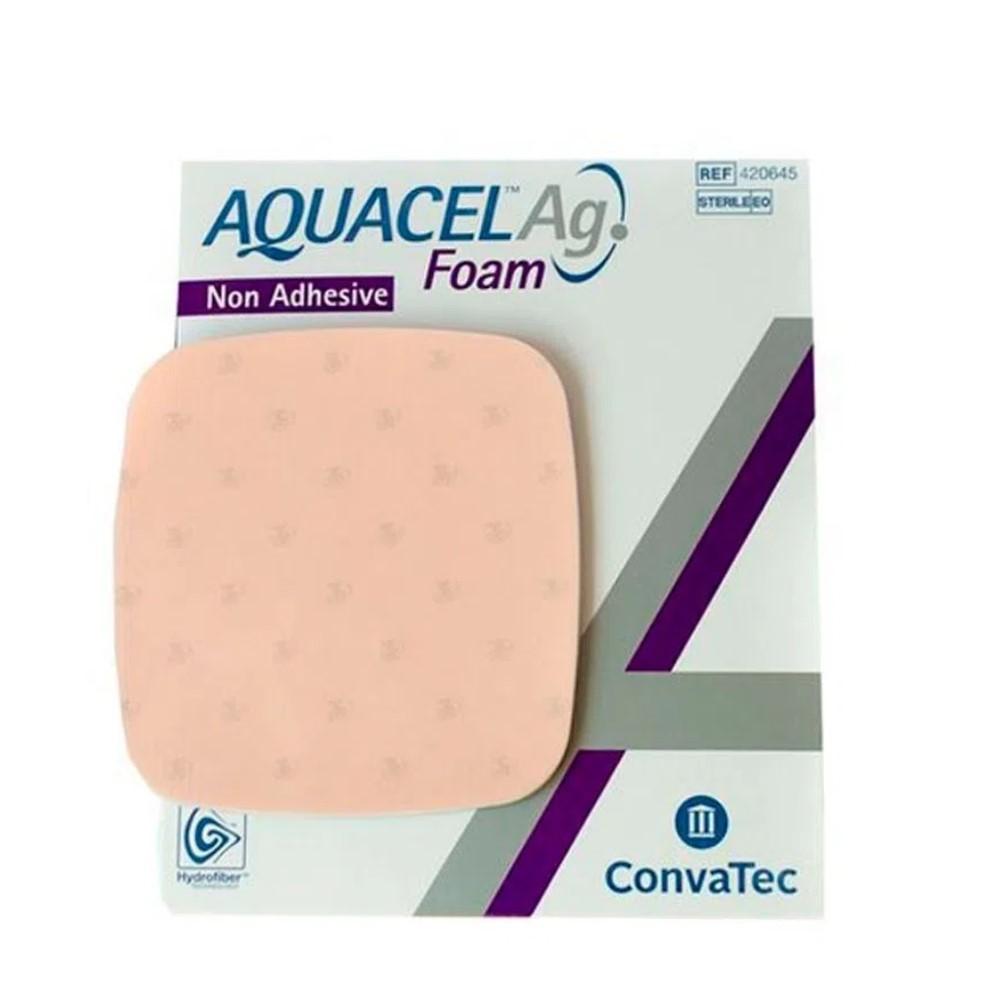 CURATIVO AQUACEL AG FOAM 15 X 15 UND 420645 - CONVATEC