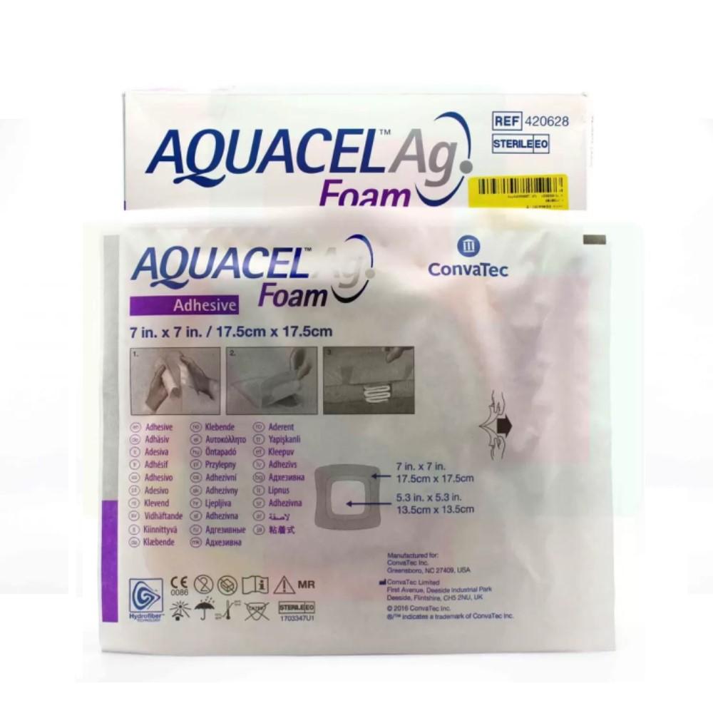 CURATIVO AQUACEL AG FOAM 17,5 X 17,5 CM UND 420628 - CONVATEC
