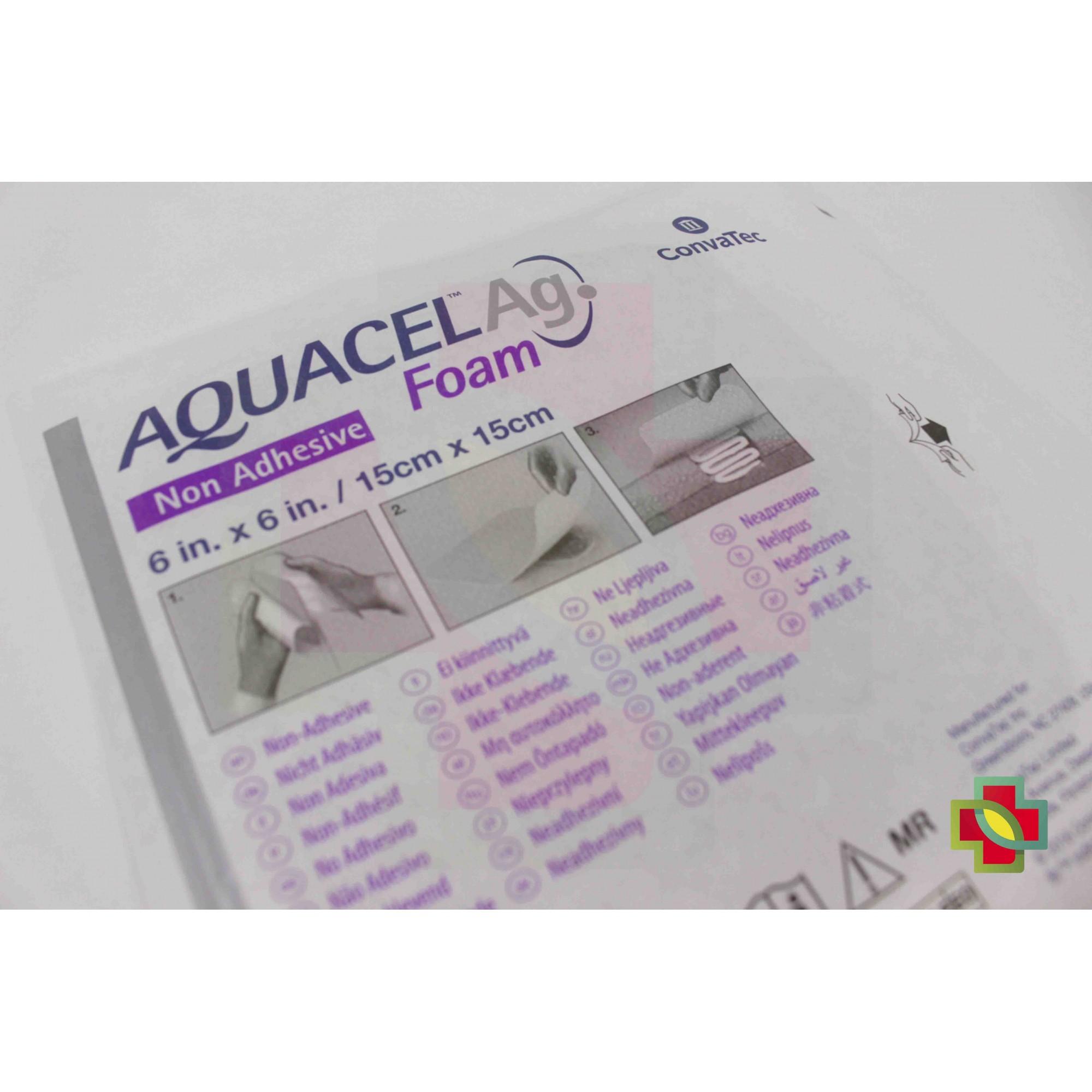 CURATIVO AQUACEL AG FOAM SEM ADESIVO 15 X 15 CM ( CX C/ 10 UNDS.) 420645 - CONVATEC