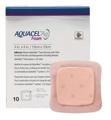 Curativo Aquacel AG Foam Sem Adesivo 15 x 15 Und. 420645 Convatec