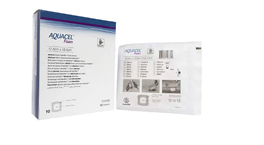 CURATIVO AQUACEL FOAM 10 X 10 CM S/ ADESIVO (CX C/ 10 UNDS.) 420633 - CONVATEC