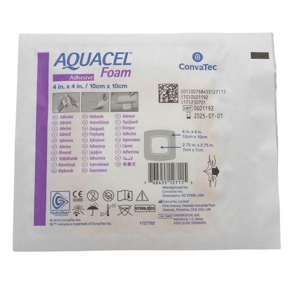 CURATIVO AQUACEL FOAM COM ADESIVO 10 X 10 CM (UND) 420680 - CONVATEC