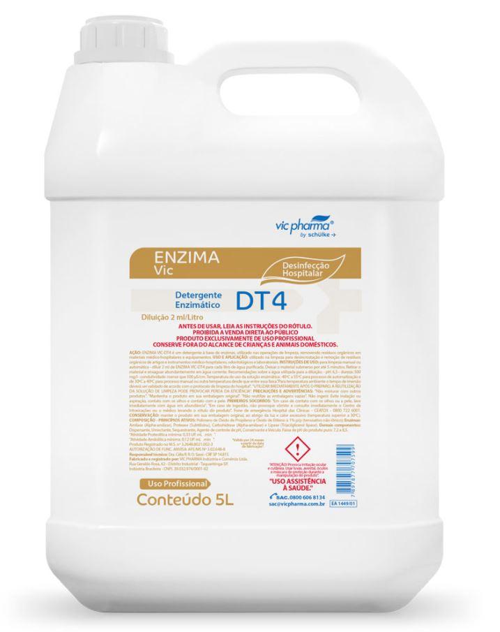 DETERGENTE ENZIMATICO ENZIMA VIC DT4 5 LT - VIC PHARMA