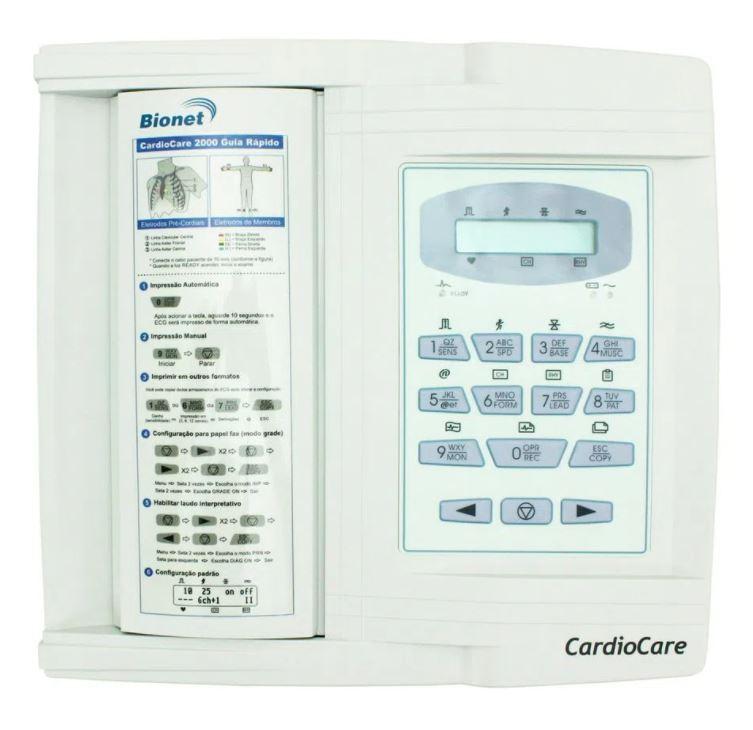 ELETROCARDIÓGRAFO ECG 12 CANAIS CARDIOCARE 2000 - BIONET
