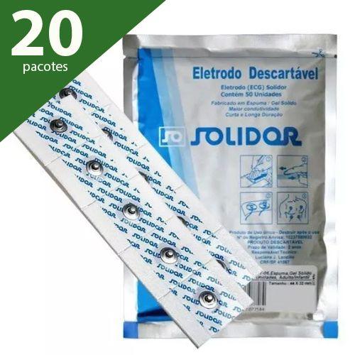 ELETRODO ECG ADULTO/INFANTIL (PCTE 1000 UNDS) - SOLIDOR