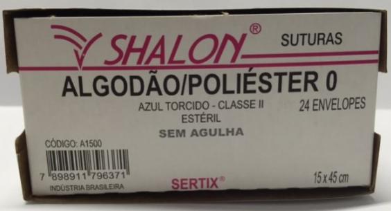 FIO ALGODÃO POLIÉSTER 0 S/AG 15 X 45CM C/24 ENVELOPE A1500E - SHALON