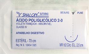 FIO ALGODÃO POLIÉSTER 2-0 C/AG 2,5MR C/24 ENVELOPES A920MR25 - SHALON