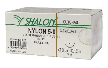 FIO NYLON 5-0 C/AGULHA 165 CTI C/24 ENVELOPES N550CTI16 - SHALON