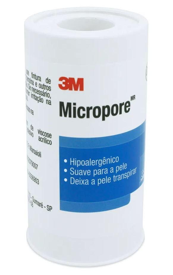 FITA MICROPORE BRANCA  100 MM X 10 M 1530 (ROLO) - 3M