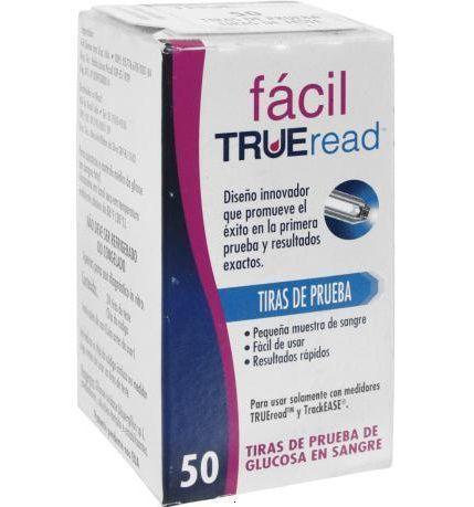 Fitas de Glicemia Fácil True Read TRACKASE (Cx c/ 50 Unds.) - Fácil Nipro