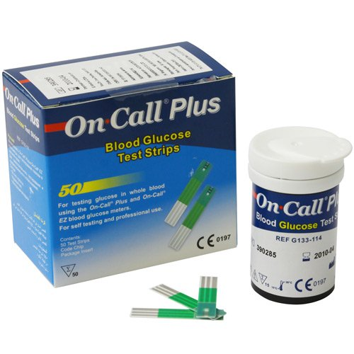 FITAS DE GLICEMIA ON CALL PLUS ONCALL - CX COM 50 UNDS - ONCALL