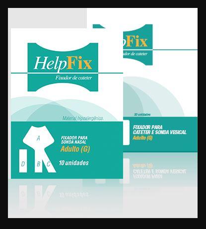 FIXADOR PARA SONDA NASOENTERAL NASOGÁSTRICA BEGE  HELP FIX (PCT C/ 10 UNDS.) - AMP